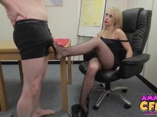 Secretary Footjob