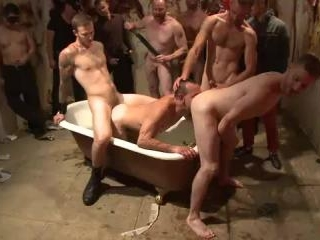 Muscled stud with a big dick cattle prodded and ga