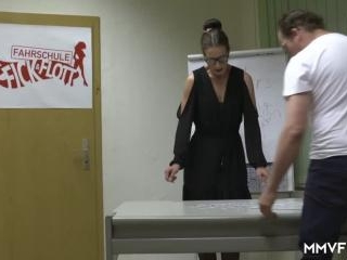 Sexy German driving instructor gets fucked by her