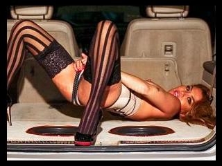 Charmane Star in the Car Trunk