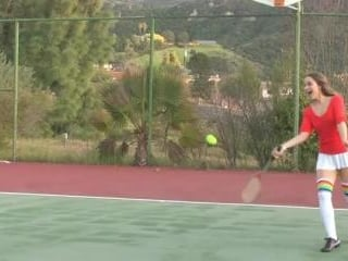 Dani Daniels gets naughty at the tennis court. on