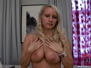 Cute blonde nwecomer gets naked