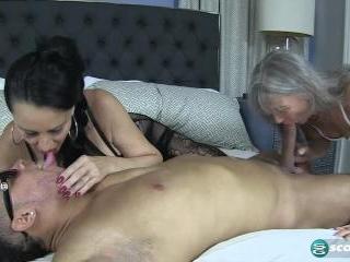 Rita, Leilani and a big, black cock