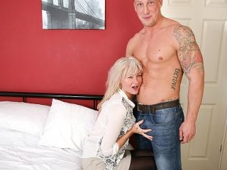 Naughty British housewife fooling around with her