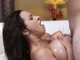 Busty Babe Ashley Adams Oiled Up and Fucked