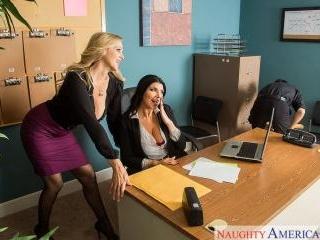 Naughty Office - Julia Ann & Romi Rain & Tyler Nix