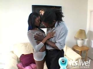 Ebony Jenna Brooks Shows Her Tits