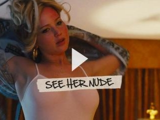 J-Law shows amazing cleavage in the bed.