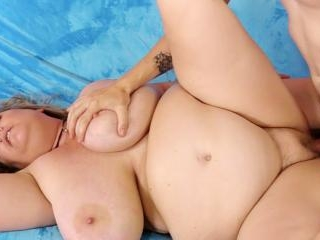 Amorous BBW Winter Wolf Rubs Her Pussy and Then Ge