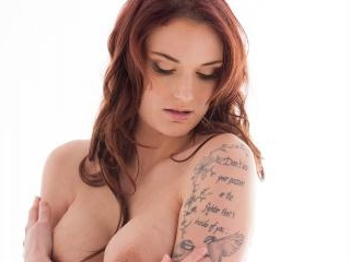 Marie Clarence  : Gorgeous French redhead babe str