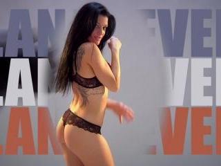 Lana Fever  : Striptease of a French lovely brunet