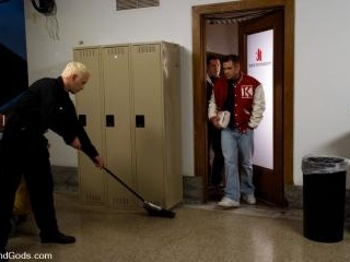 The Creepy Janitor and The Football Player