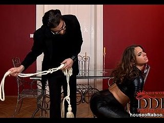 Bound babe gets humiliated