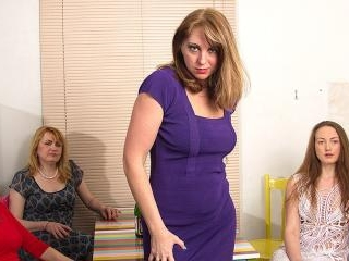 Four naughty housewives explore their lesbian desi