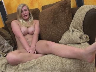 Roxy Lovette swallows after giving a POV blowjob