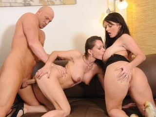Beautiful Brunette Sophie Dee Tag Teams a Thick Co