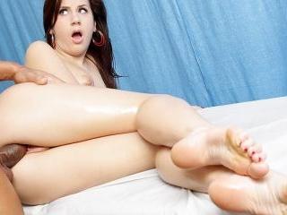 Massage girl fucked doggy style