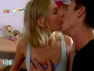 Blond teen assfucked by her private teacher