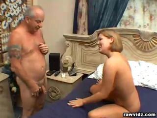 Claire James Blonde belle fucks a geezer