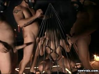 Blonde Sex Slave\'s Foursome