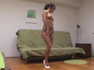 Amabella doing a seductive nude dance