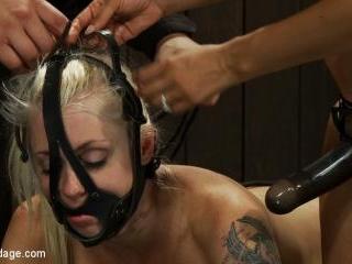 Hot Blond BDSM Slave get bound in hard metalBrutal