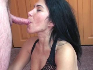 Petite brunette housewife Cleo Leroux is down on t
