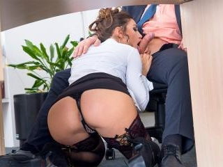 Julia Roca Has Her Hairy Pussy Pounded in the Offi