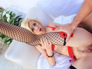 Blonde Model Sucks Homeowner