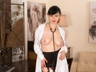Bigtit nurse gets naughty with her hairy snatch