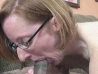 Mature redhead Layla Redd wears her glasses and a