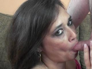 Mature swinger Alesia Pleasure in a sultry pink dr