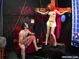 Redhead Is Banged Hard By Two Cocks