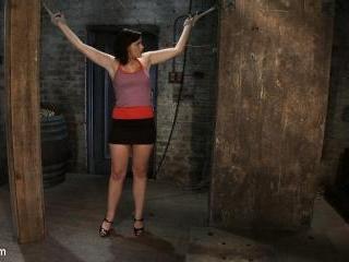 Girl next door gets bound spread, pussy floggedNip