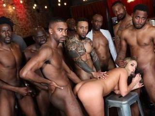 Interracial Blowbang - Candice Dare
