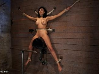 Nipples pull 1 way, neck rope pulls the other. 2 o
