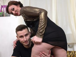 Naughty horny housewife fucking and sucking her to