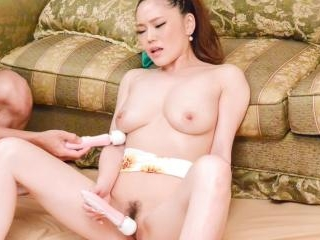 Busty Aya Mikami gets hard fucked by two males