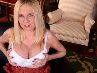 Naughty big breasted American housewife playing al