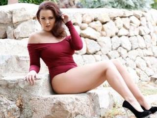Jodie in burgundy bodysuit