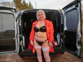 Barby Wanking In The Back Of A Van