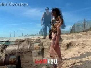 BIGTITS WALKING ON THE BEACH