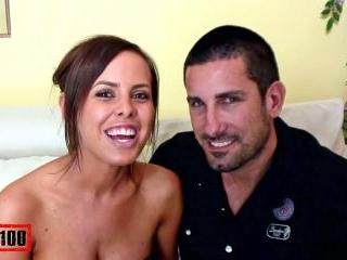 Big tit amateur brunette fucked by her boyfriend