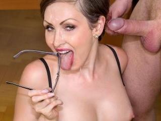 Yasmin Scott MILF and Secretary Gets Cum on Her Gl