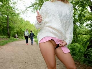 Blonde Hottie Fucks Outdoors