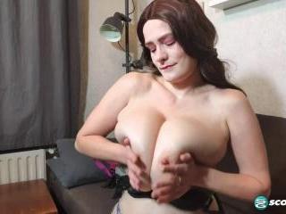Cleo\'s Big Boobs Bra Testing