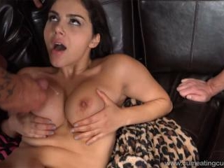 Brunette Wife Shares a Cock With Her Cum Hungry Hu