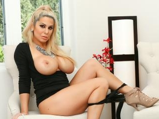 Alyssa is Stunning In Her Black Dress as She Cums