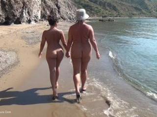 Walking Naked On The Beach