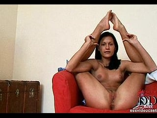 Sexy young newcomer girl\'s solo